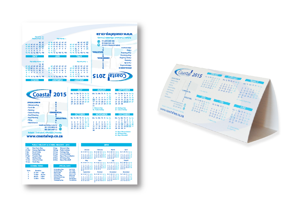 Coastal Corporate ID - Calendar