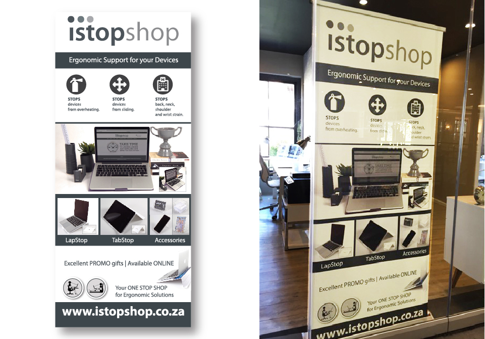 Istopshop Signage - Pull-up Banner