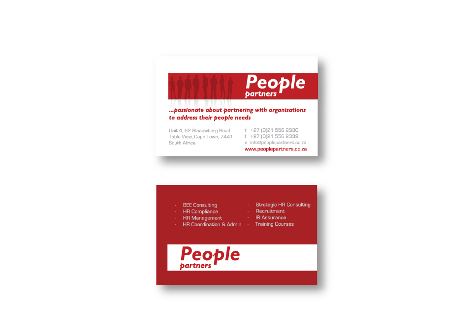 People Partners Corporate ID - Business Cards