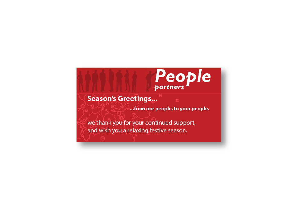 People Partners Corporate ID - Christmas Card