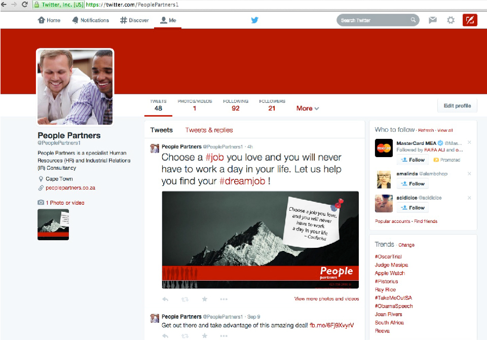 People Partners Social Media - Twitter