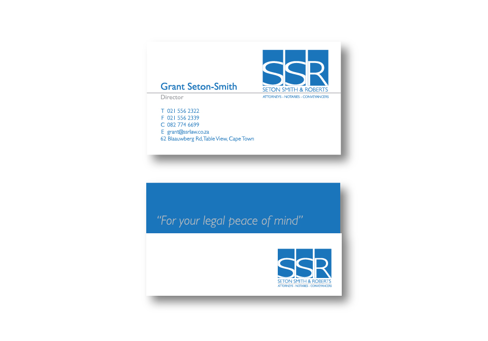 SSR Attorneys Corporate ID - Business Cards