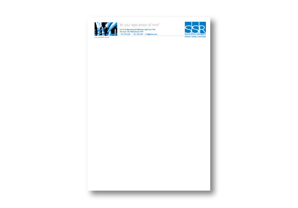 SSR Attorneys Corporate ID - Letterhead