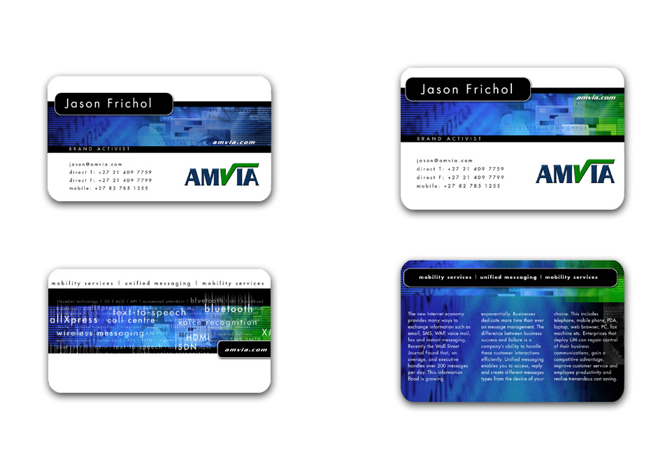 Amvia - Business Cards