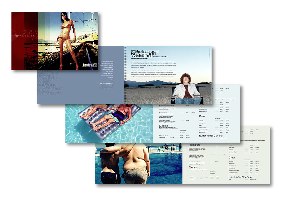 Gavin Schneider Productions - Brochure
