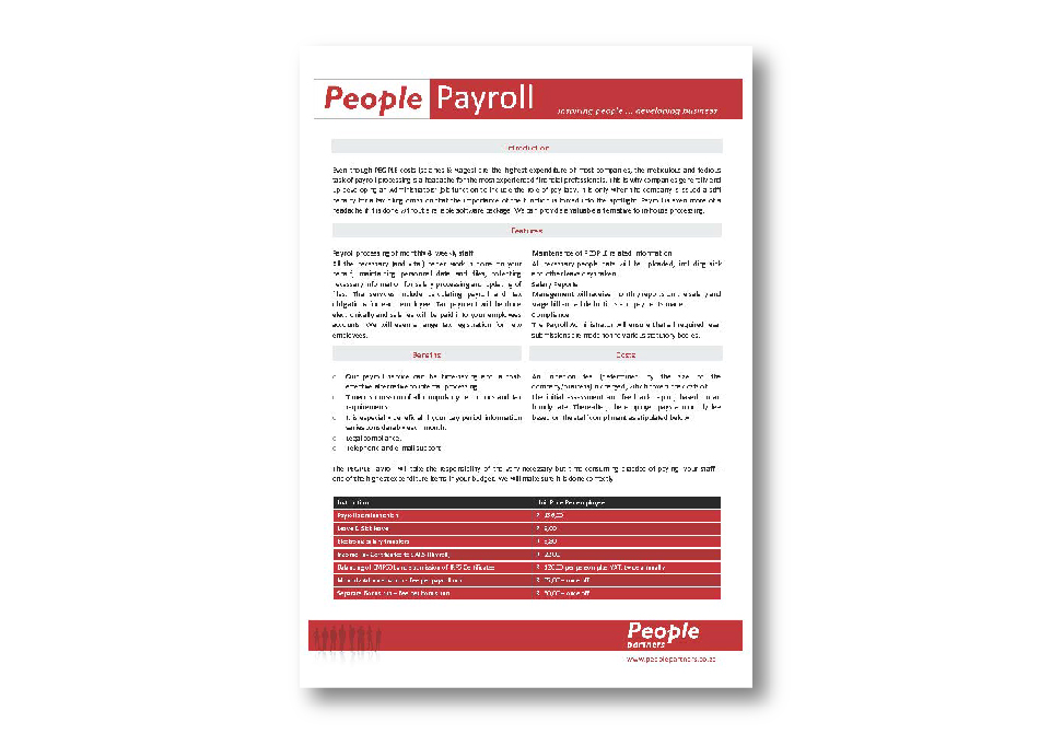 People Partners Corporate ID - Payroll Document