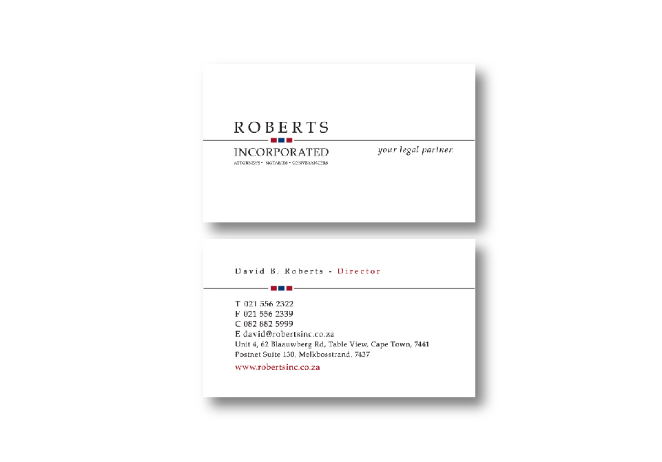 Robertsinc Corporate ID - Business Cards