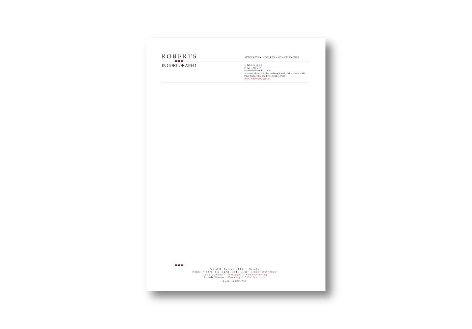 Robertsinc Corporate ID - Letterhead