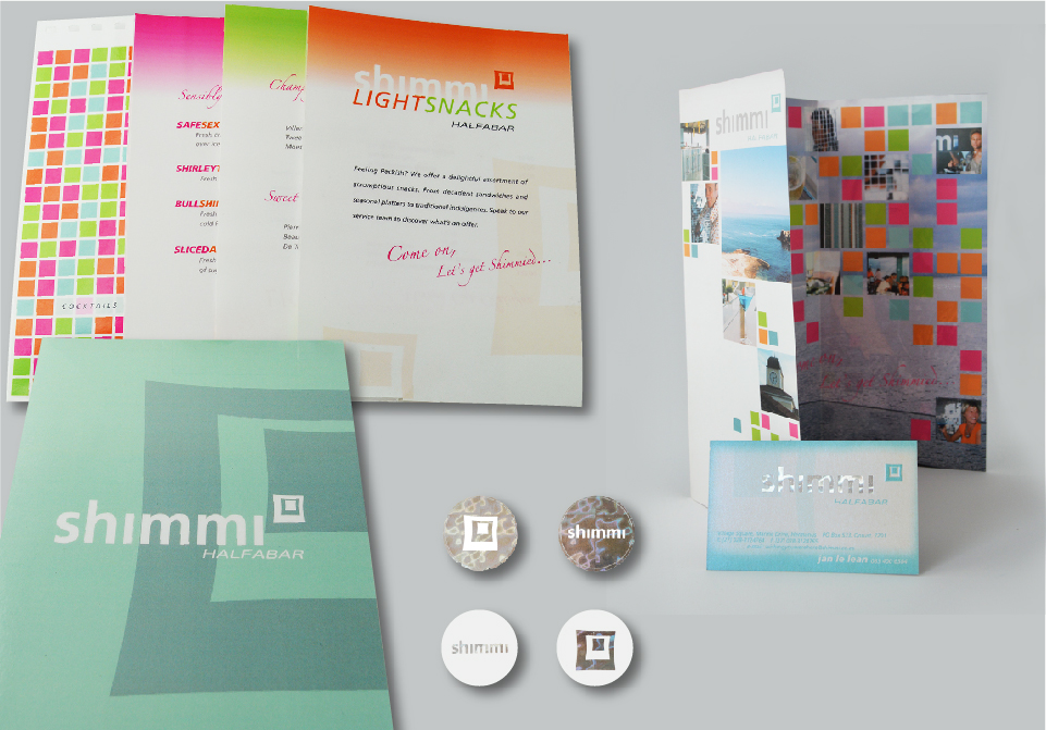Shimmi Brochures - Menus Business Cards Stickers