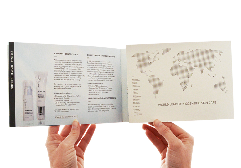 Theravine Brochures - Theravine range print