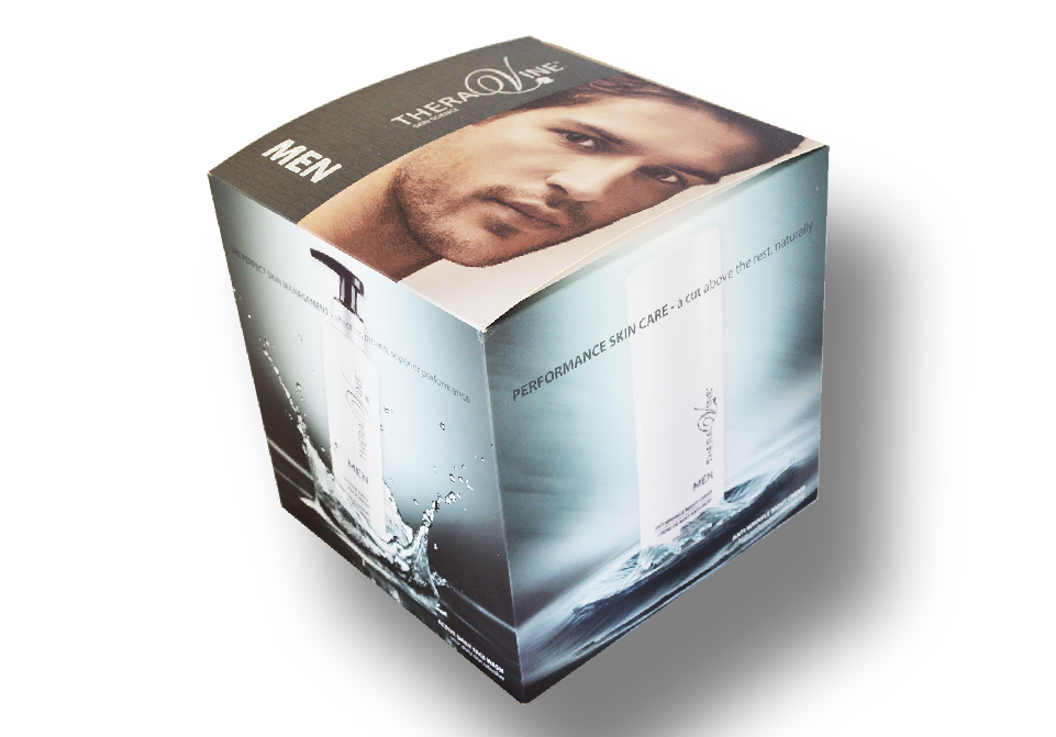 Theravine Signage - MEN cube