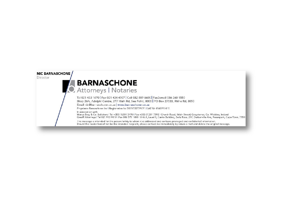 Barnaschone Corporate ID - Email Signature