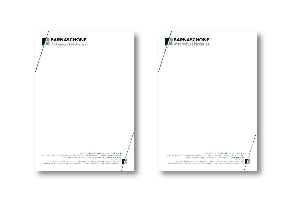 Barnaschone Corporate ID - Letterheads